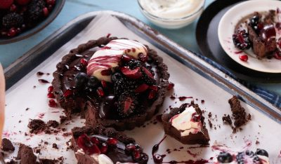 Gluten-Free Cannabis Chocolate & Cherry Tart