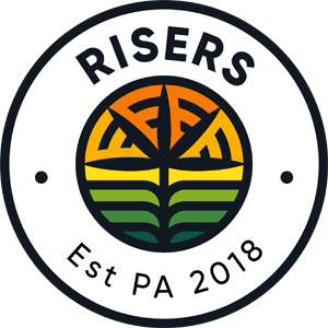 RISERS RISE Dispensary Marijuana Loyalty Program Logo